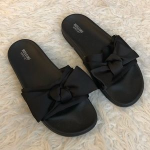 Mossimo Julisa slide bow sandals black slip on